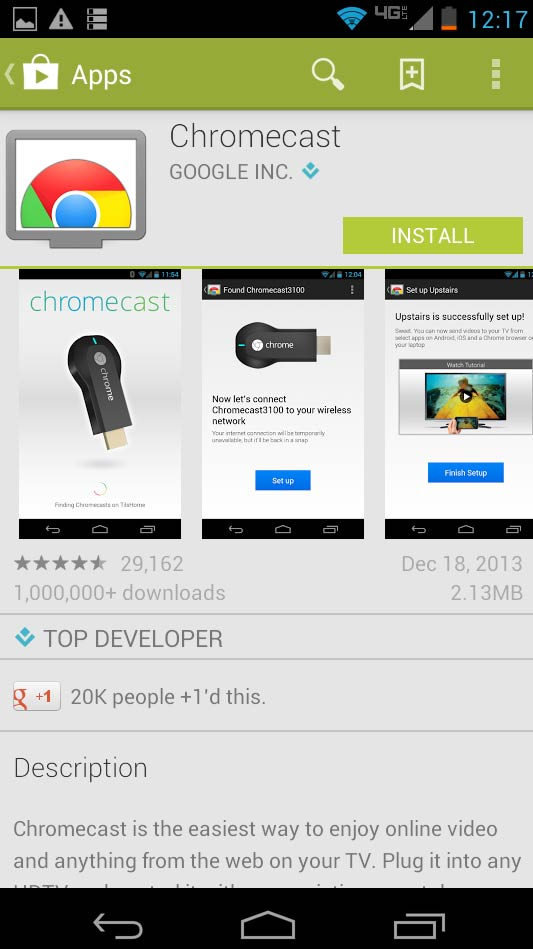 Install Chromecast on your Android