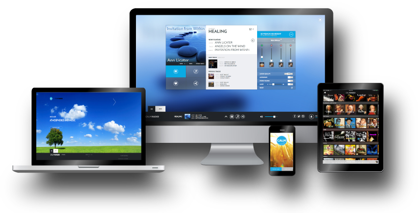 Calm Radio has iphone music streaming apps for desktop and mobile, has android apps music streaming apps for desktop and mobile and Windows app music streaming apps for desktop and mobile
