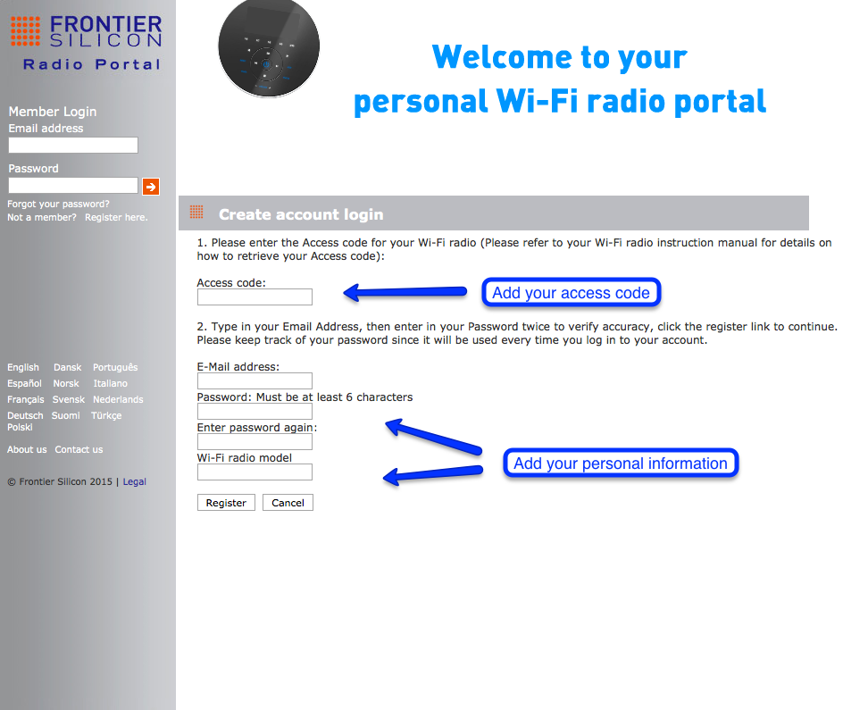 Calm radio wifiradio-frontier.com register account